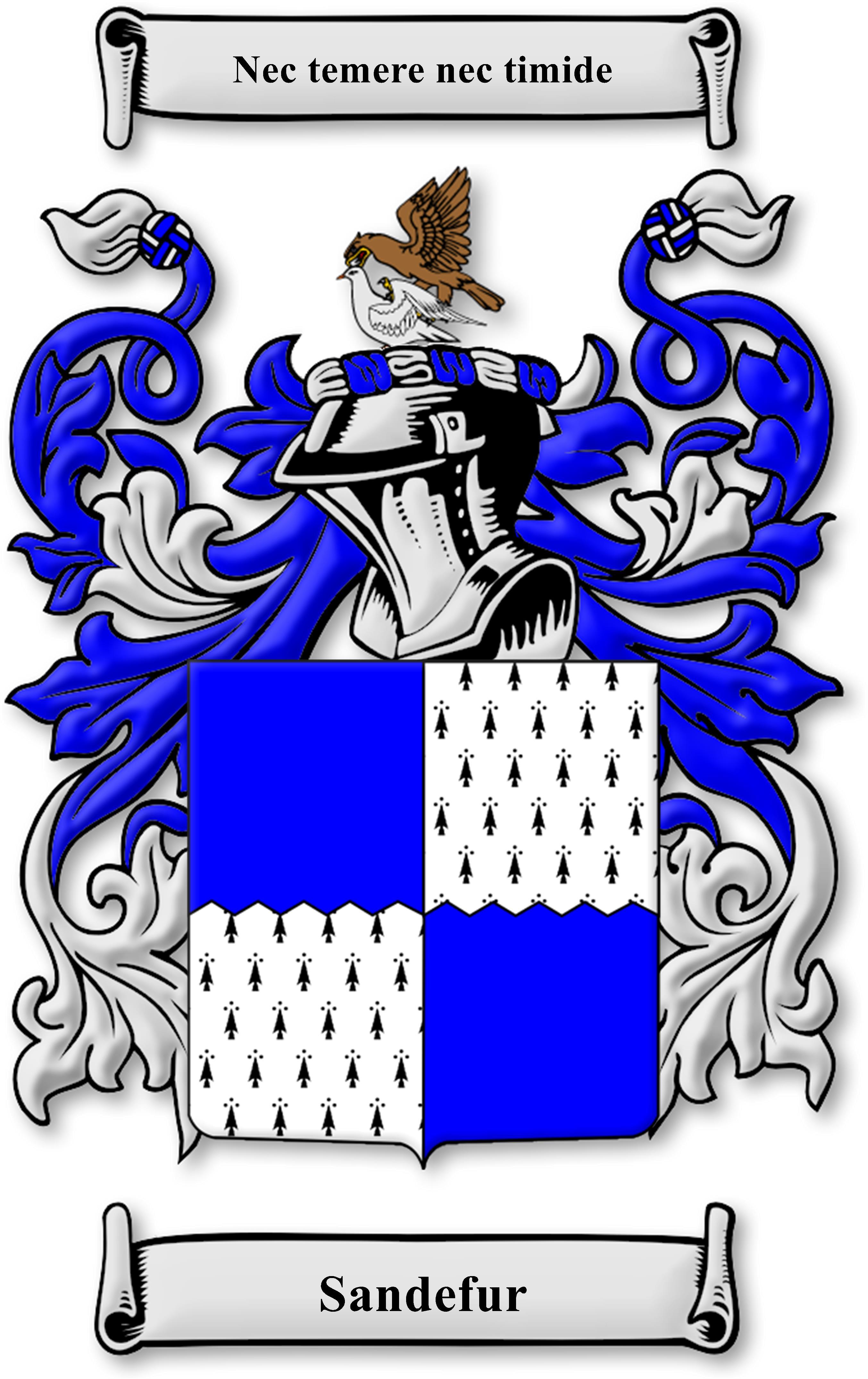 Sandefur Family Crest